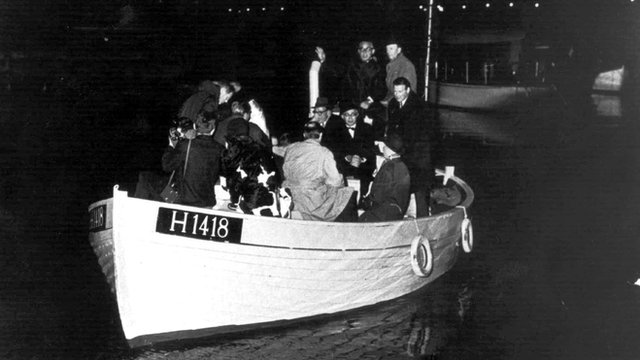Mass escape of Jews in boats from Denmark