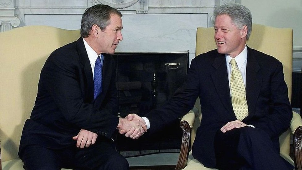 Bush y Clinton