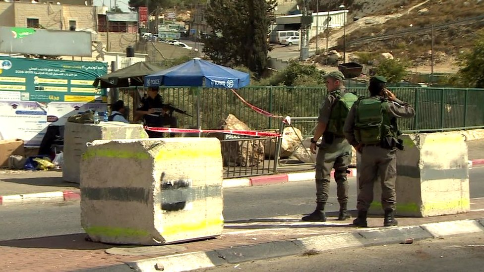 Checkpoint in East Jerusalem