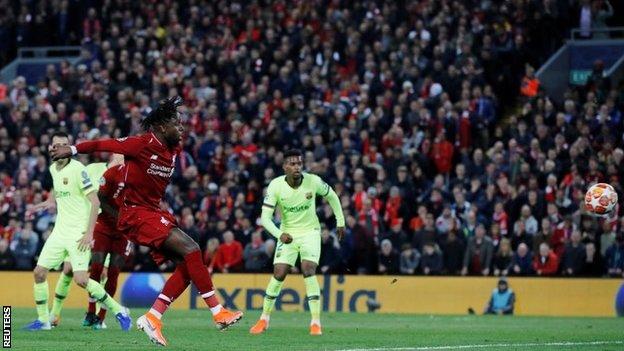 Divok Origi postiže četvrti gol