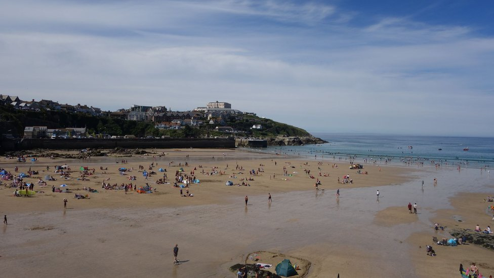 Towan beach