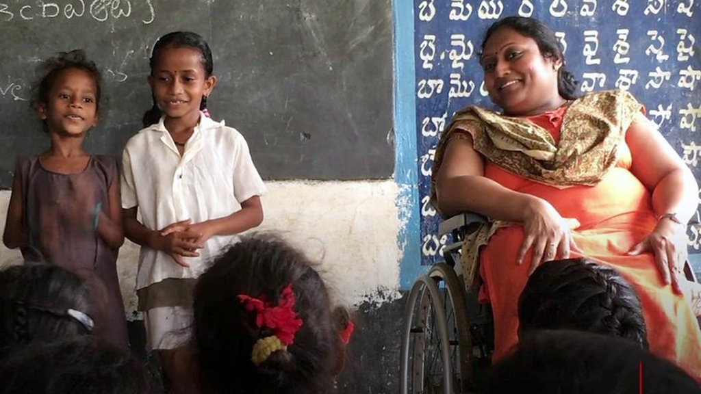 How a polio survivor is educating India's rural children