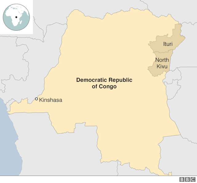 A map of DR Congo