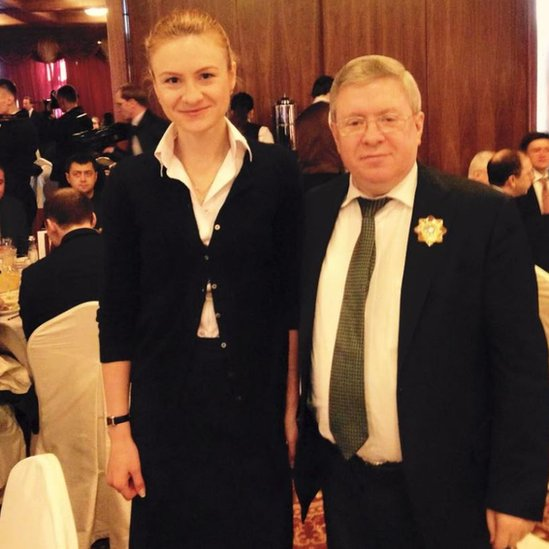 She and Mr Torshin attended several high profile events together