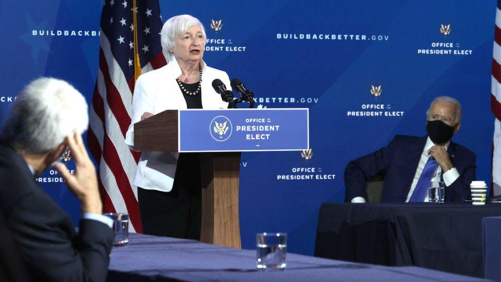 Janet Yellen y Jo Biden