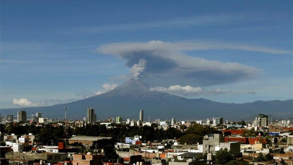 Mexican volcano Popocatépetl erupting in November