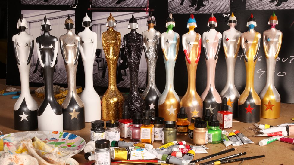 Brit Award trophies