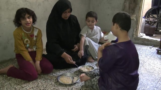 Women and children in Aleppo