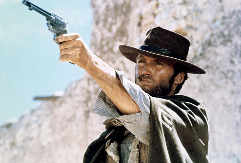 Clint Eastwood in the film The Good, the Bad and the Ugly, (1966)