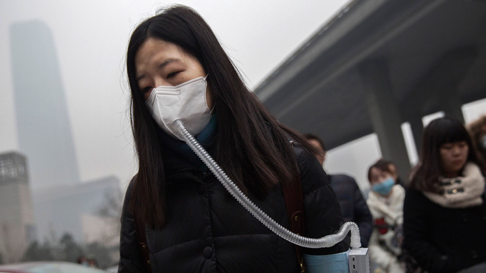 Kineski sa maskom, Peking, 2015.