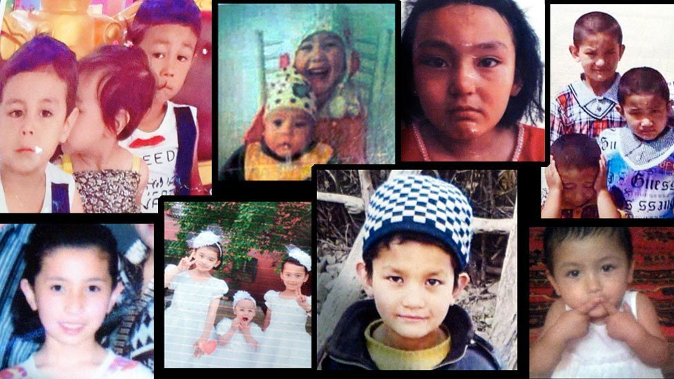 Missing in China; some of the family portraits handed to us in Turkey by Uighur parents looking for information about their children back home in Xinjiang