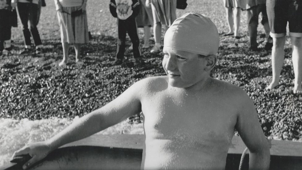 Tom Gregory on the beach