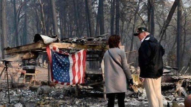 Трамп приїхав на місце смертельної пожежі в Каліфорнії