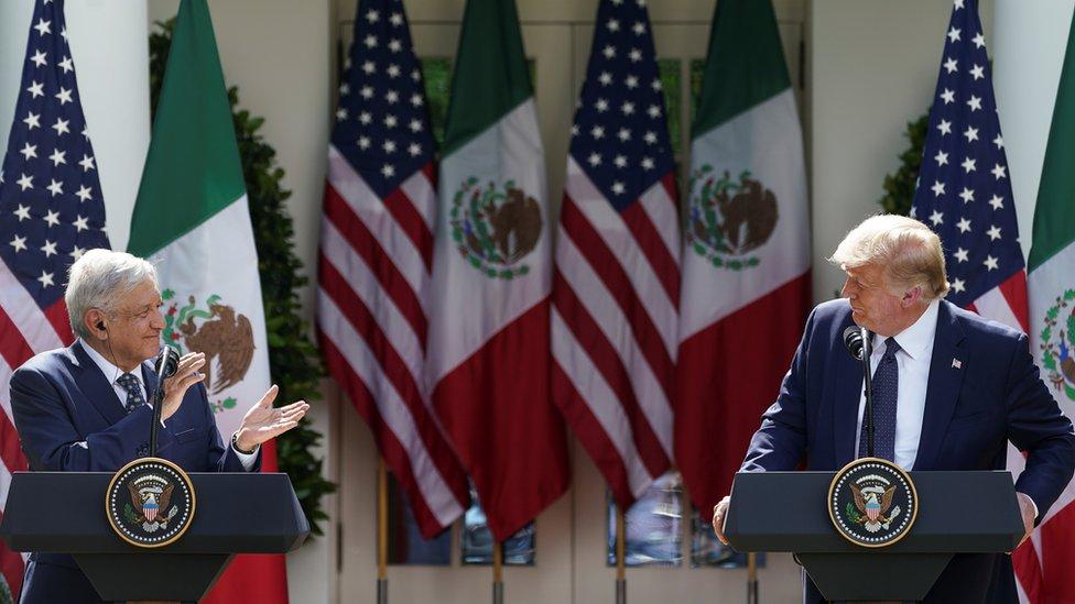 López Obrador y Trump en la Casa Blanca
