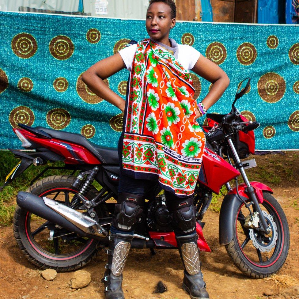 Kenyan biker Njeri Mbogo