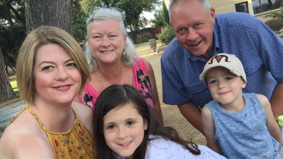 Kathryn de Prudhoe and family