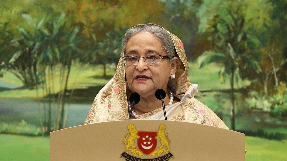 Sheikh Hasina, la primera ministra de Bangladesh, mayo 2018