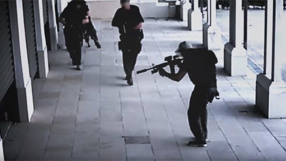 CCTV footage of the raid on Kim Dotcom's mansion on 20 January 2012