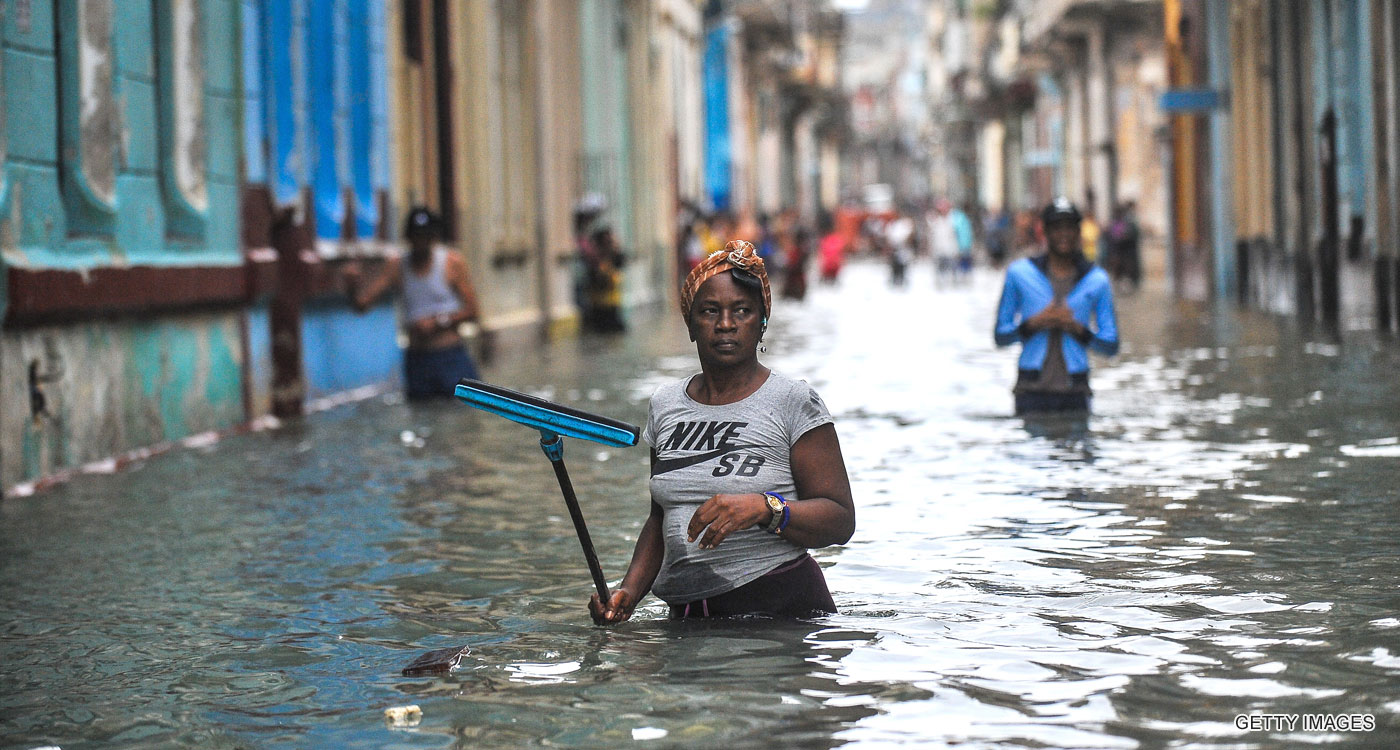 Flooding in Havana, Cuba, after Hurricane Irma