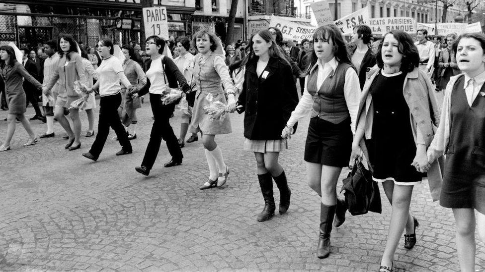El movimiento por la igualdad y la emancipación de la mujer obtuvo un gran impulso con el mayo francés.