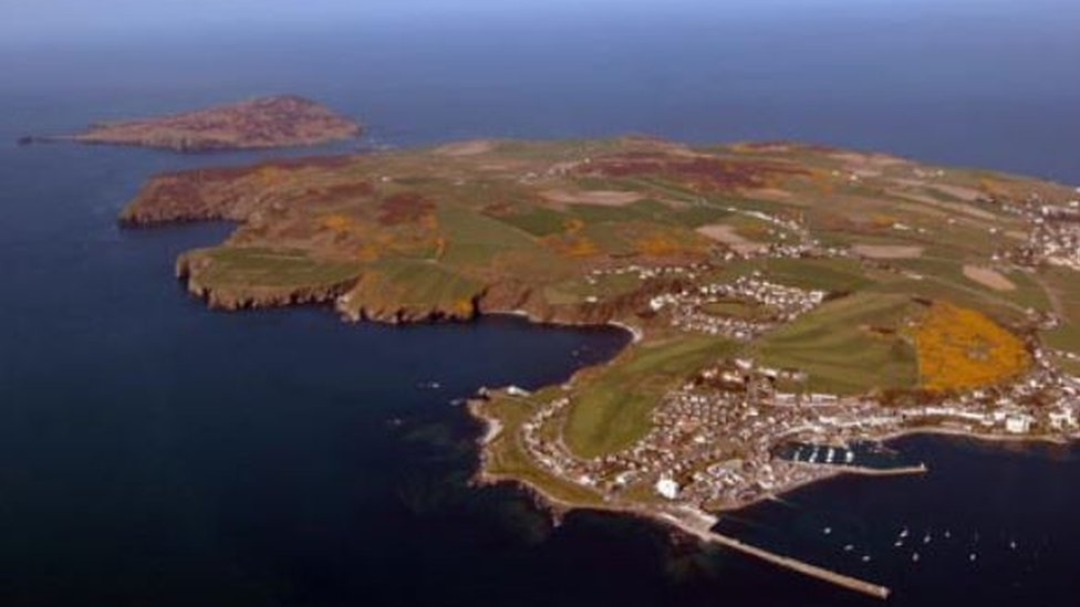 Aerial view of the Isle of Man