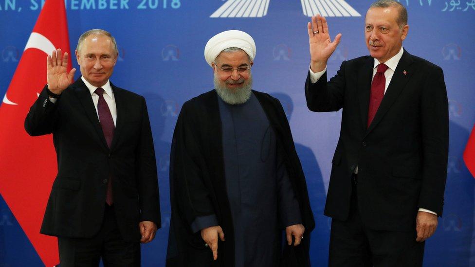 قادة تركيا وإيران وروسيا