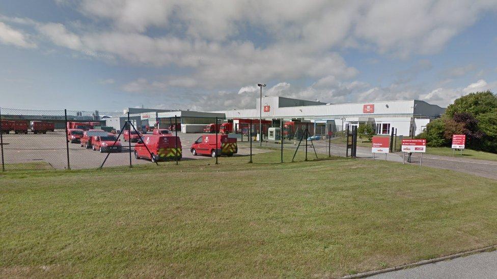 Royal Mail depot in Aberdeen