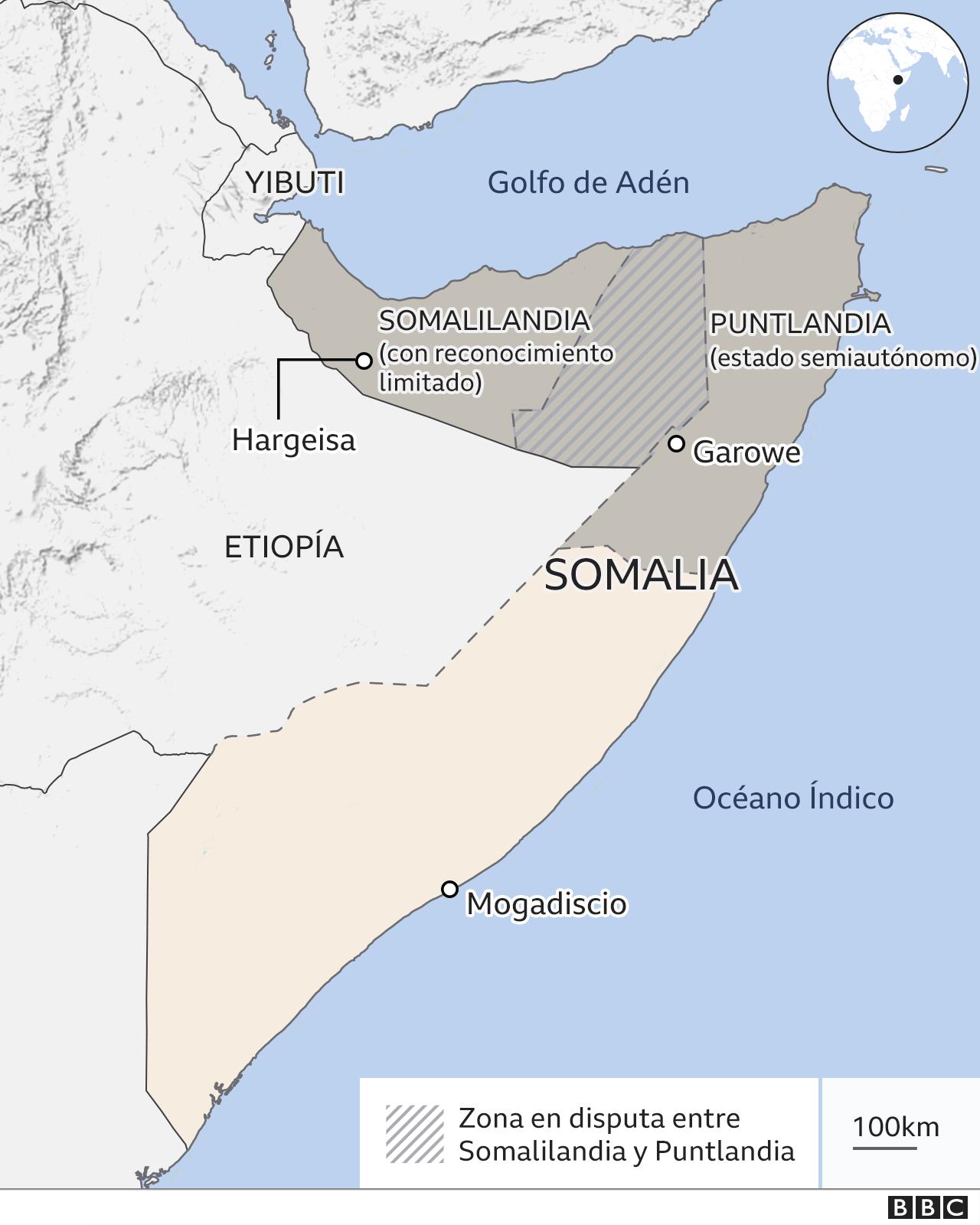 Mapa Somalilandia