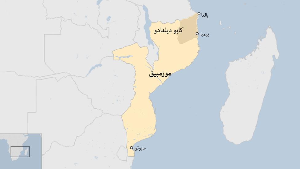 خريطة لموزمبيق