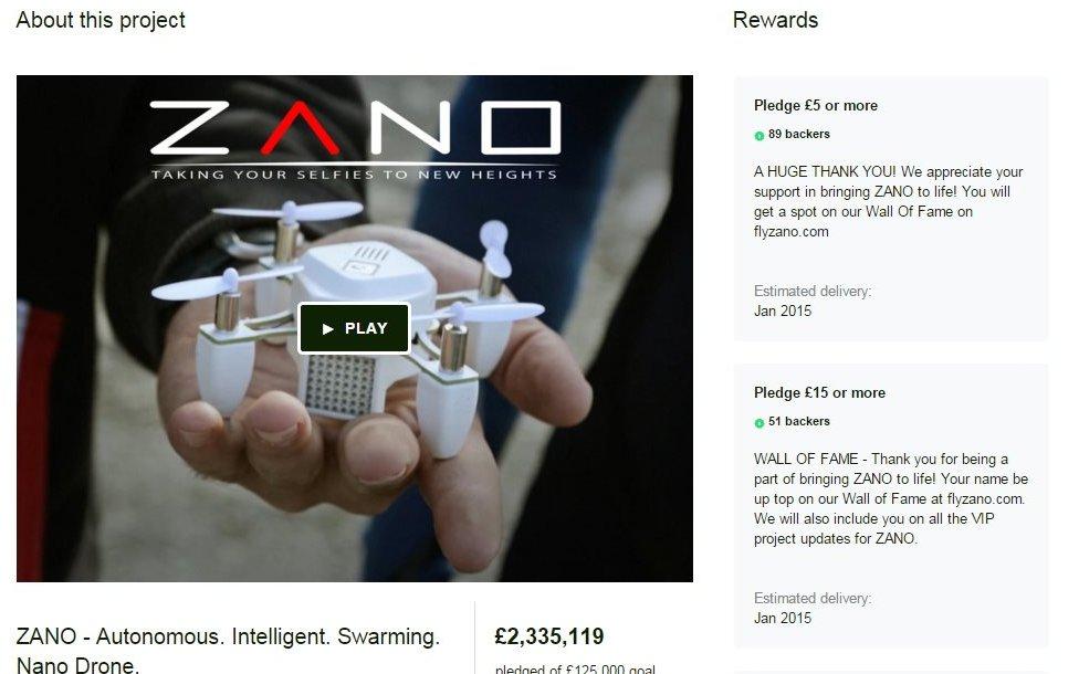 Kickstarter campaign for Zano