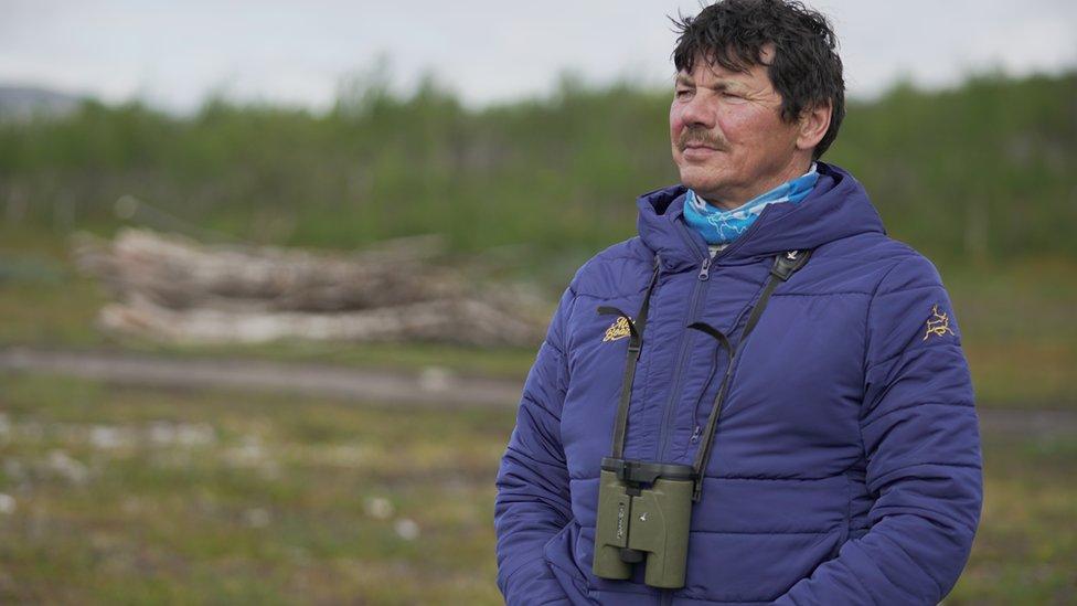 Uno de los jefes de la comunidad sami, Nils Mathis Sara.