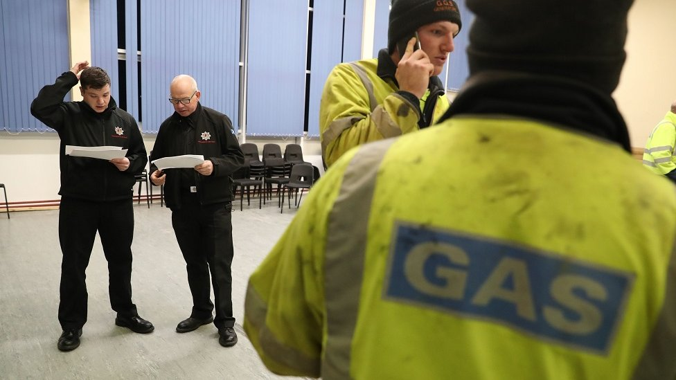 Fire brigade helping with distribution of heaters in Falkirk