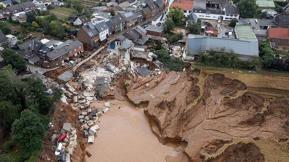 Flooding in Erftstadt-Blessem, Germany - 15 July 2021