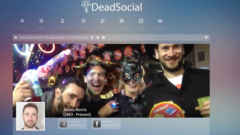 Perfil de James Norris en DeadSocial