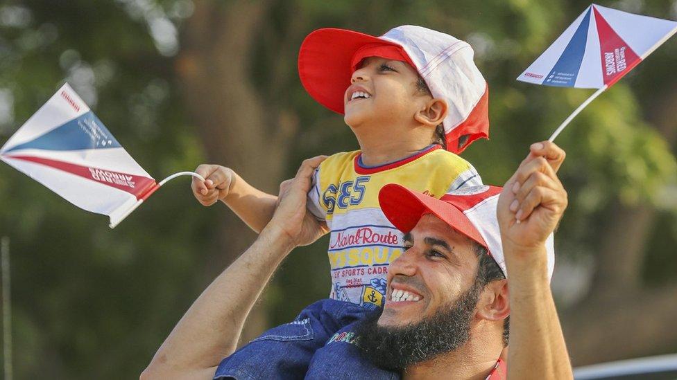 Spectators in Oman