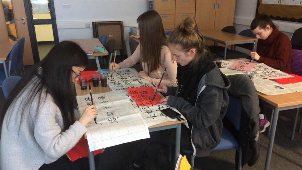 Students at Carmel College, St Helens