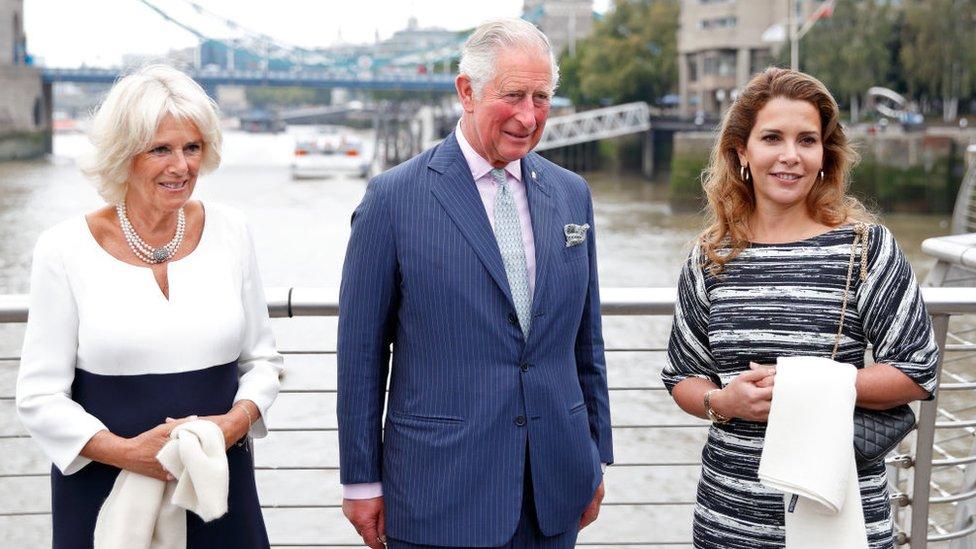 Prenses Haya Prens Charles ve Camilla Parker Bowles ile