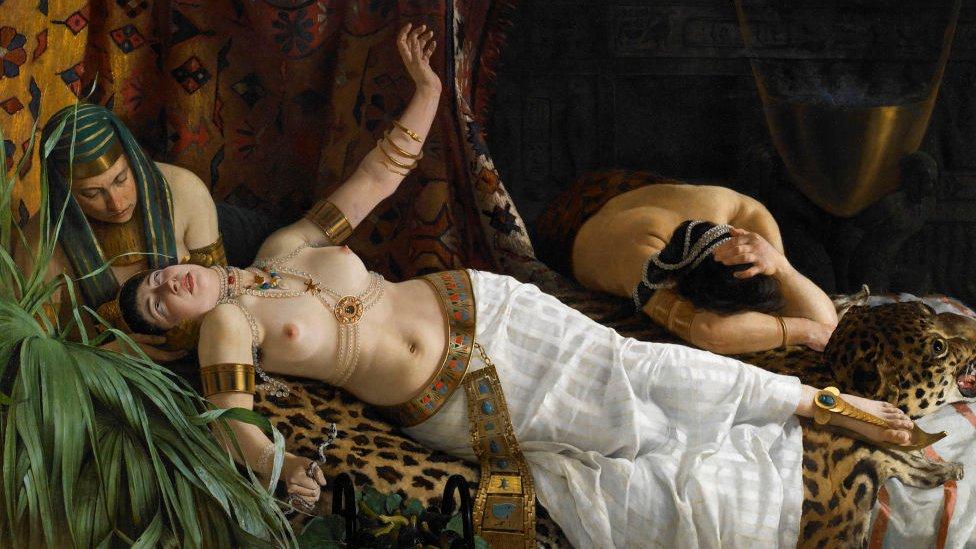 La muerte de Cleopatra, pintada circa 1878.