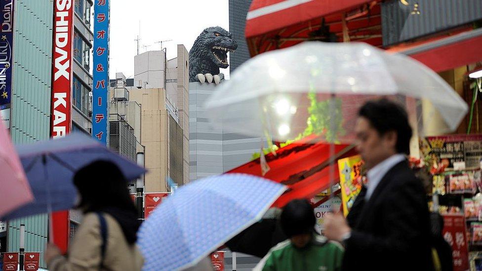 Godzilla en Shinjuku, Japón.