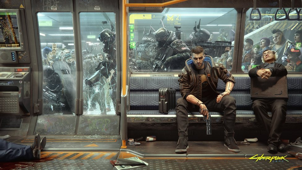 Picture of gameplay on Cyberpunk 2077