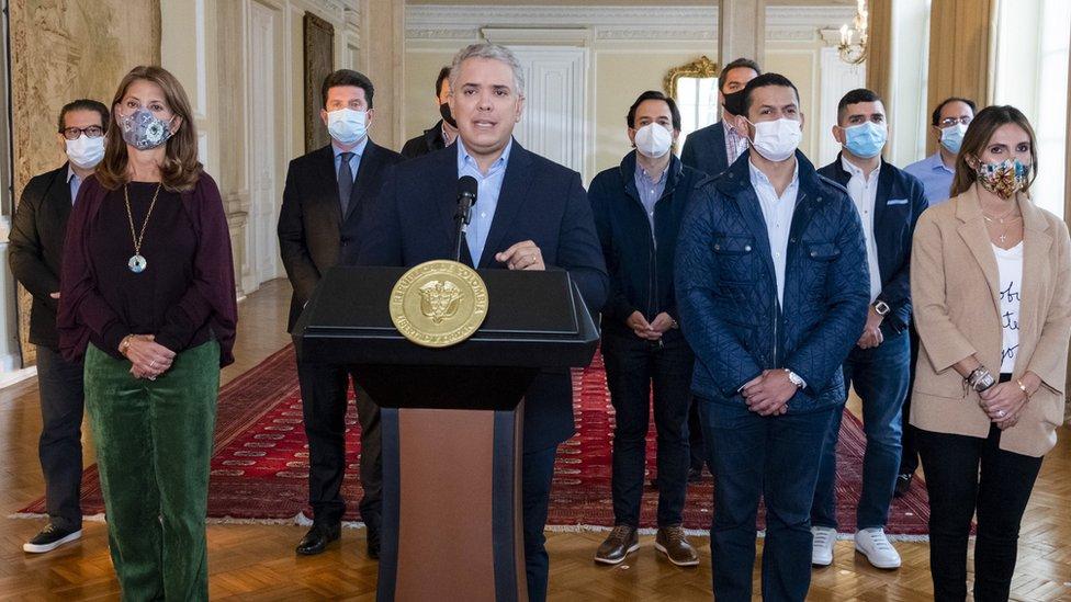 Iván Duque y su gabinete