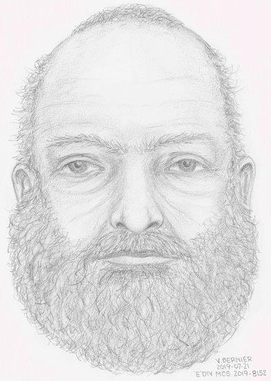 Un dibujo del rostro del hombre no identificado