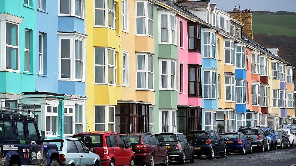 Houses on the promenade in Aberystwyth