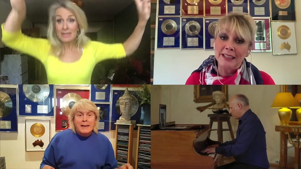 BBC News - Eurovision tribute by Fizz members and BBC correspondent