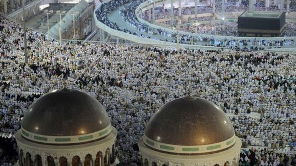 Pilgrims at the Hajj