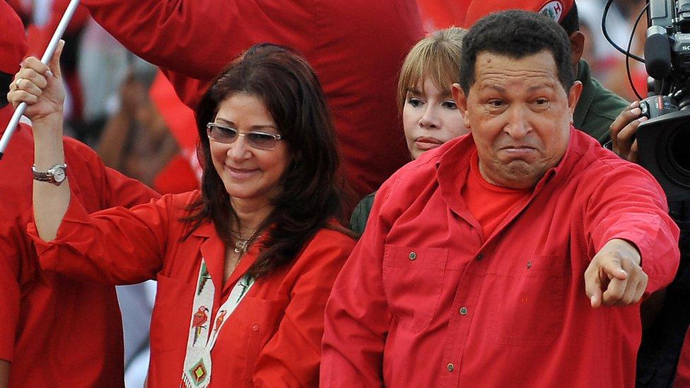 Cilia Flores y Hugo Chávez.