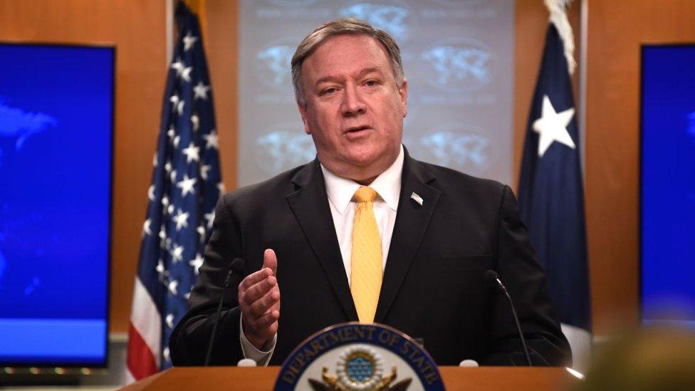 El secretario de Estado de EE.UU., Mike Pompeo, el 1 de febrero de 2019