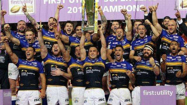 Super League Grand Final: Leeds Rhinos revel in 'unbelievable' win