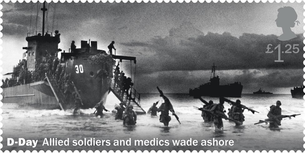 Royal Mail handout image of one of a set of 11 stamps being issued in 2019 to mark the 75th anniversary of the D-Day landings.