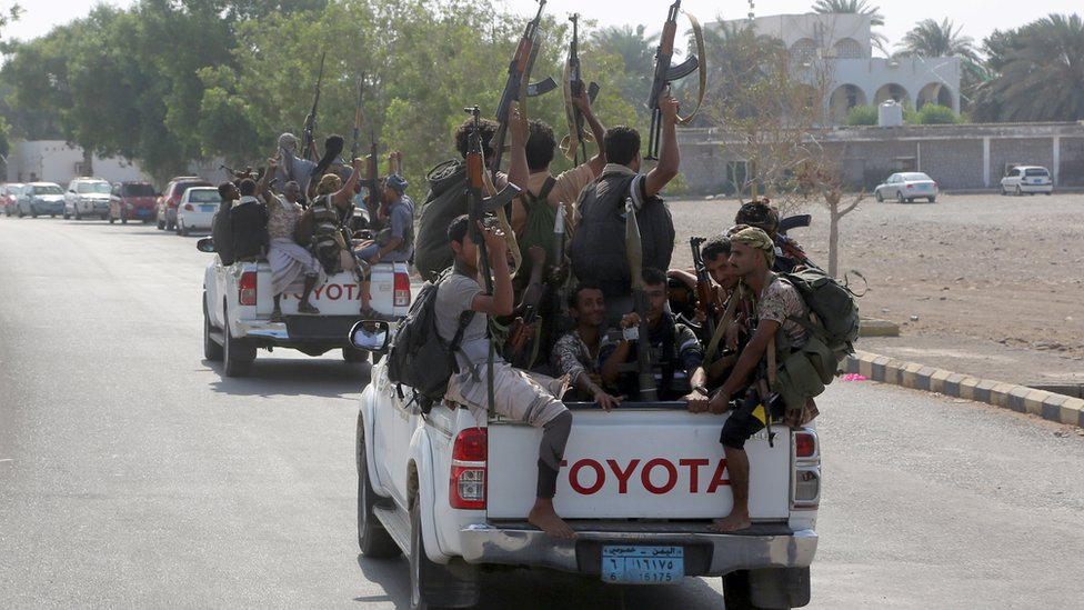 File photo showing Houthi rebels in Hudaydah on 29 December 2018